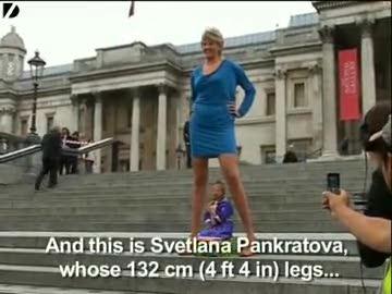dünyanın en uzun kadını ve en kısa adamı
