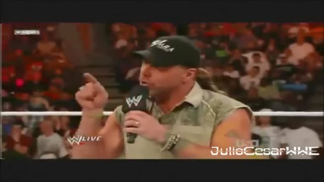 wwe shawn michaels returns sweet chin david otunga - wwe raw 6 / 27 / 11