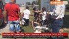 Antalya'da Kontrolden Çıkan Otomobil Karşı Şeride Geçti : 1 Ölü , 1'i Ağır 3 Yaralı