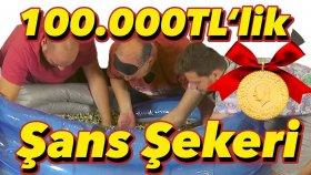 100 , 000 Liralık Şans Şekeri ile Dolu Havuzda Altın Arama Yarışması