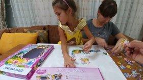 CLEMENTONİ DİSNEY PRENSESLER MESAJ PUZZLE , Toys unboxing , Oyuncak , Eğlenceli çocuk videosu