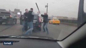Beyzbol Sopalı Çekiçli Trafik Kavgası Kamerada