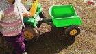Oyuncak Arabalar Akülü Yeşil Traktör Oyuncak