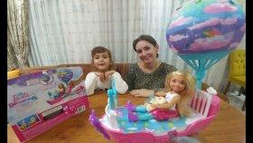 Barbie Chealsea Dream Tophia Adventure Uçan Balonlu Rüya Gemisi , Eğlenceli oyuncak , toys unboxing