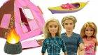 Barbie Kampta ! Barbie , Ken ve Stacie'nin Kano , Hamak Ve Kamp Ateşi Eğlencesi !