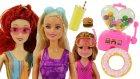 Barbie Havuzda ! Barbie Prenses Ariel Ve Chelsea'nin Havuz Ve Su Kaydırağı Eğlencesi !