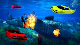 100 , 000 , 000 $ NÜKLEER DENİZALTI PATLATMAK ! ! ( GTA 5 Online DLC )