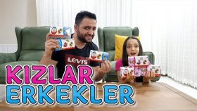 Kızlar vs Erkekler Kinder Joy Sürpriz Yumurta Challenge