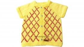 İşlemeli Bebek Yeleği Nasıl Yapılır ? ( Baştan Sona Anlatım ) - örgü modelleri , knitting