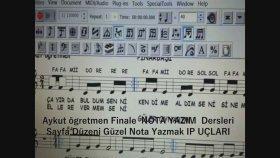Finale 2011 Advanced Tool Special Tool Nota çubuklarını Kalınlaştırma Uzatıp Kısaltma