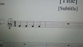 Finale 2011 Nota Başını Büyük Yapmak Staff Tool Notehead Fond Maestro Aykut öğretmen