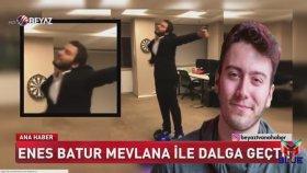 Enes Batur'un Mevlana ile Dalga Geçti Haberi ( Beyaz TV )
