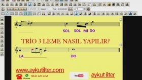 Finale 2011 Nota Triole Üçleme Müzikte Triole Üçleme Nasıl Yapılır Nota Yazım Aykut Öğretmen