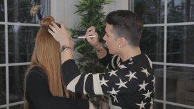 Kerimcan Durmaz'ın Danla Bilic'e Makyaj Yapması