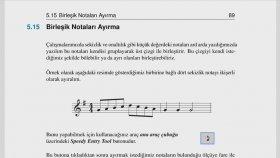 Finale 11 nota ayırma nota saplarını ayırma sekizlik on altılık bağlı notaları ayrı ayrı yazma aykut