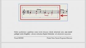 Finale 15 Graphic Jpeg Nota sayfasının çıktısı Ölçü saysı Nota yazım programı aykut öğretmen