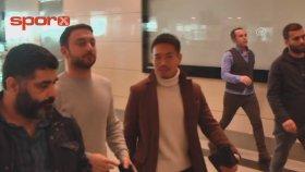 Nagatomo , Galatasaray için İstanbul'a geldi