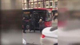 Otobüs Şoförüne Kamçı İle Saldıran Servis Şoförü