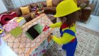 Elif Mühendis Oldu. Oyun Evini Tamir Etti. Elife Yeni Renkli Mühendis Kostümü