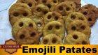 Gülen Yüz Emojili Haşlanmış Patates Kızartması Nasıl Yapılır ?