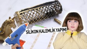Silikon Kalemlik Yapımı | DIY HOT GLUE GUN PENCİL CASE
