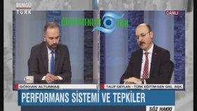 Türk Eğitim - Sen Genel Başkanı Talip Geylan öğretmen performans değerlendirmesi hakkında konuştu
