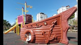 Elif İle Gemi Parkta Oyunlar Yarışmalar. Eğlenceli Çocuk Videosu