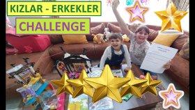 Kızlar Erkekler Challenge Zorlu 8 Görev Lera ve Elif İle Yarışıyoruz. Eğlenceli Çocuk Videosu