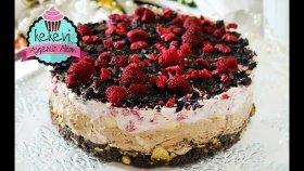 Pişirmeden , Frambuaz ve Çikolatalı , Mozaik Tabanlı Kolay Pasta Tarifi | Ayşenur Altan Tarifleri
