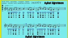 24.Etüt Nota Okuma Dersi Solfej Blok Flüt Piyano Keman Gitar Müziği Sevdirme Yolları