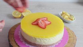Enfes Sosuyla Limonlu Cheesecake
