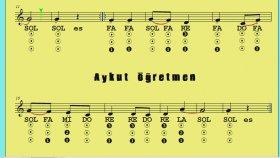 27.Etüt Nota Okuma Dersi Solfej Blok Flüt Piyano Keman Gitar Müziği Sevdirme Yolları