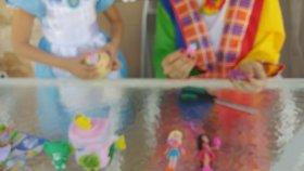 Prenses Alice ve Palyaço Lera Bahçede Süper Sürpriz Challenge. Lol Bebek Glimmies , Poly Pocket