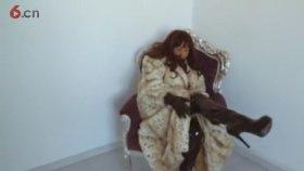 old aunt model shows mink coat
