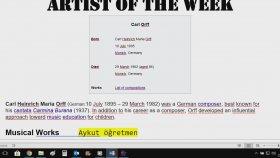 Haftanın Sanatçısı Köşesinde Carl Orff Var Carmina Burana Biyografisi Türkçe İngilizce Anonslar