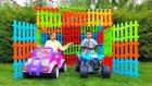 Melike Ve Eren Çitlerden Garaj Yaptı Melike And Eren Made Garages From Fences , Fun Kid Video
