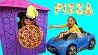 Bu Pizzacı Başka Pizzacı Melike play house bought Pizza , funny video for kids , Oyuncax Tv