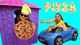 Bu Pizzacı Başka Pizzacı Melike play house bought Pizza , funny video for kids , Oyuncax Tv