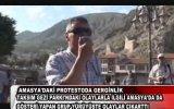"Amasya""daki Protesto""da Gerginlik"