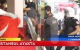 Polis Türbanlı ve türk bayraklı kadını dövdü !