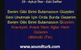 Aykut ilter Eski Defter - Kareoke Lyrics ( Eski Defter Albümü )