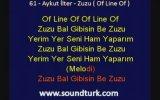Aykut İlter Zuzu - Of Line Of Kareoke Lyrics ( Eski Defter Albümü )