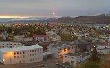 İzlanda üzerine düşen ilginç ışıklar