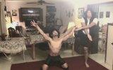 Baba oğuldan muhteşem dans gösterisi