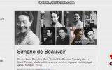 """Google Anasayfasına Doodle Olarak Simone De Beauvoir""""ı Taşıdı"""