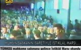 Muhsin Başkanın İşaretiyle Mahkemede İstiklâl Marşı Okudular