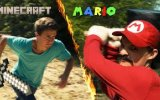 Mario ve Minecraft Kavga Ederse view on izlesene.com tube online.