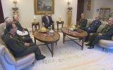 Genelkurmay Başkanı Orgeneral Özel ve Kuvvet Komutanları Çankaya Köşkü'nde