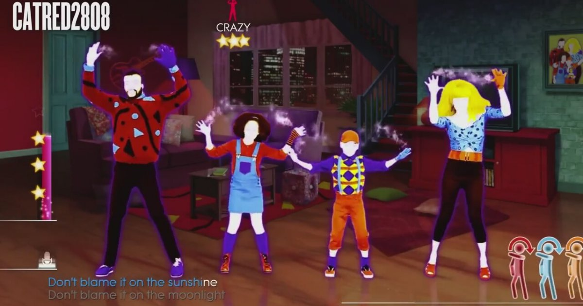 Just dance 4 blame it on the boogie video for 1234 lets on the dance floor
