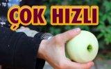 Dünyanın En Hızlı Elma Soyma Yöntemi